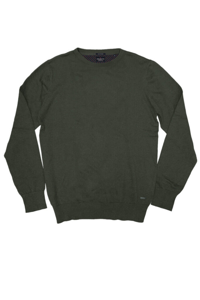 DOUBLE OUTFITTERS Round Neck Knit Khaki