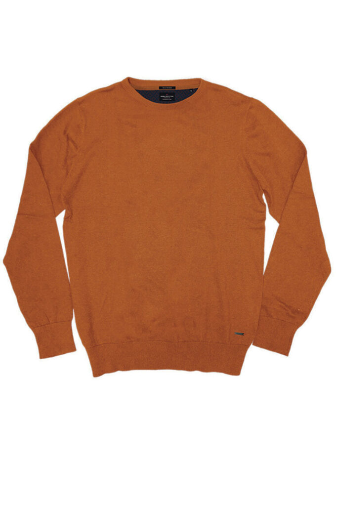 DOUBLE OUTFITTERS Round Neck Knit Mustard