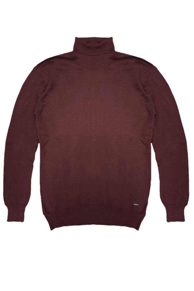DOUBLE OUTFITTERS Roll Neck Knit Burgundy