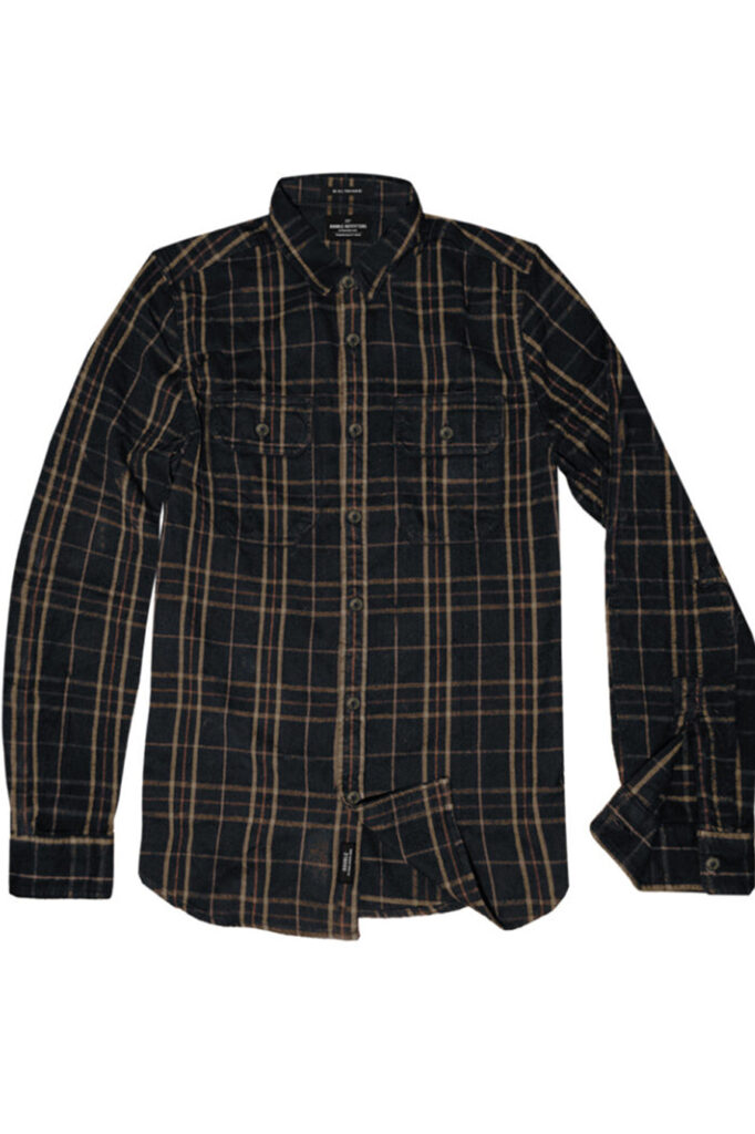 DOUBLE OUTFITTERS Long Sleeve Flannel Shirt