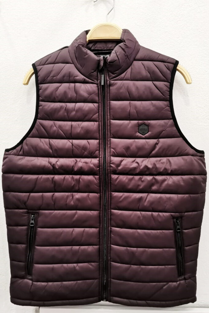 DOUBLE OUTFITTERS Puffer Gilet Burgundy