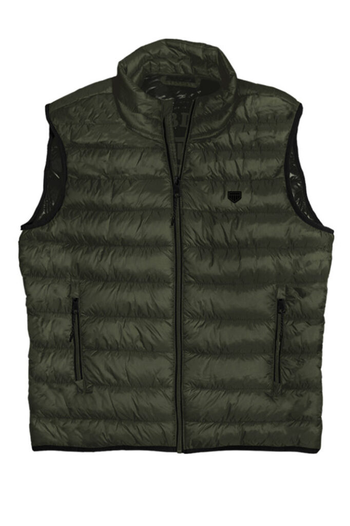 DOUBLE OUTFITTERS Puffer Gilet Khaki