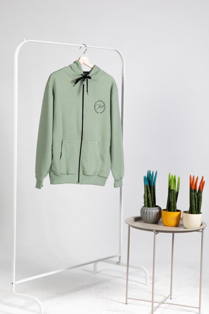 CLVSE SOCIETY MINT HOODIE WITH ZIPPER