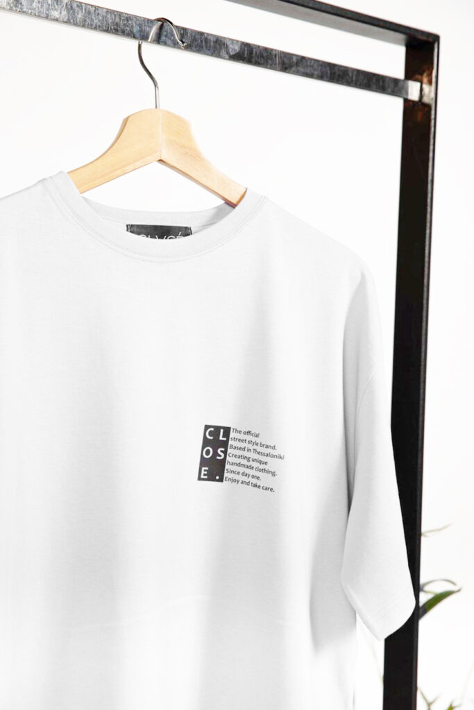 CLVSE SOCIETY OVERSIZED WHITE T SHIRT FOR HER