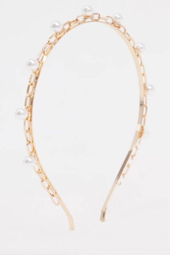 Headband Gold with Pearls