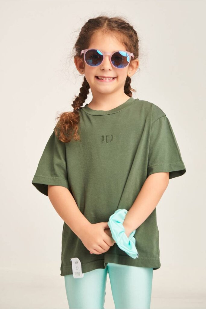 PCP Kiddo Girl's T-Shirt Olive
