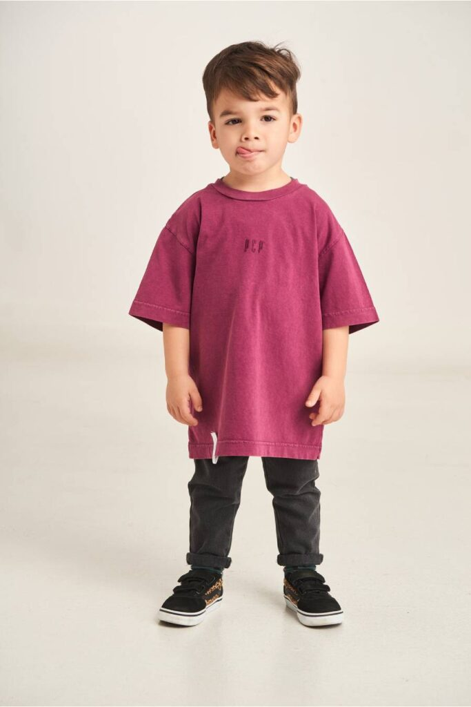 PCP Kiddo Boy's T-Shirt Aubergine