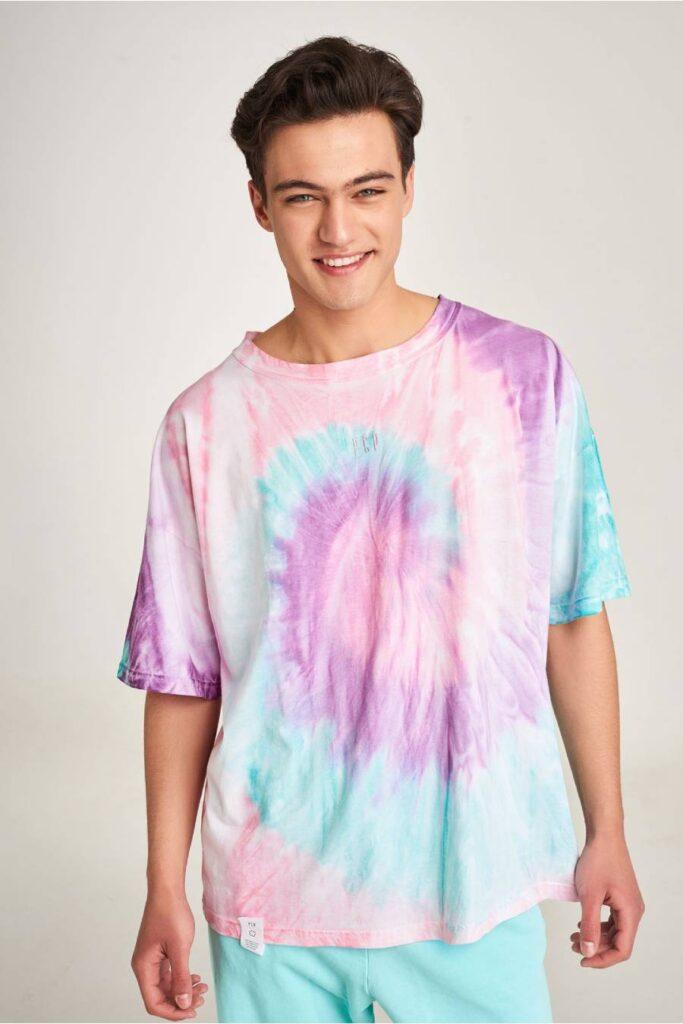 PCP Men's Tie-Dye T-shirt Lollipop