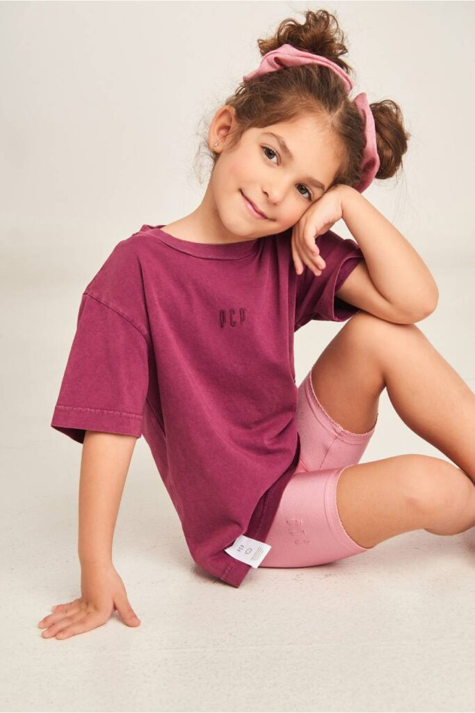 PCP Kiddo Girl's T-Shirt Aubergine