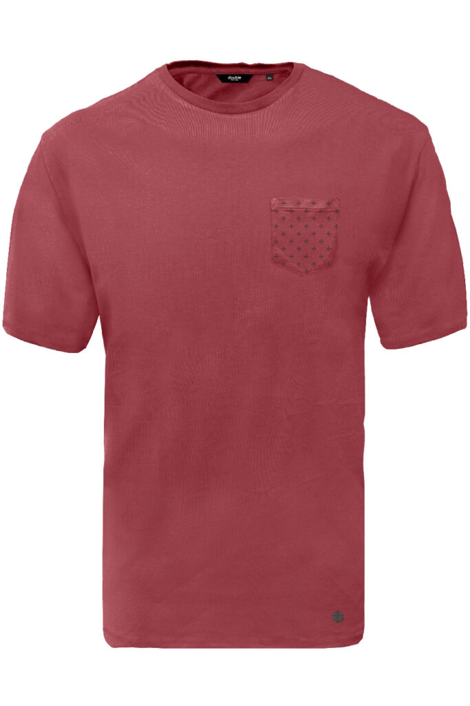 DOUBLE OUTFITTERS T-Shirt with chest pocket berry