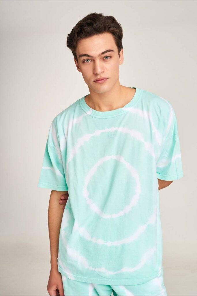PCP Men's Tie-Dye T-shirt Circles Mint