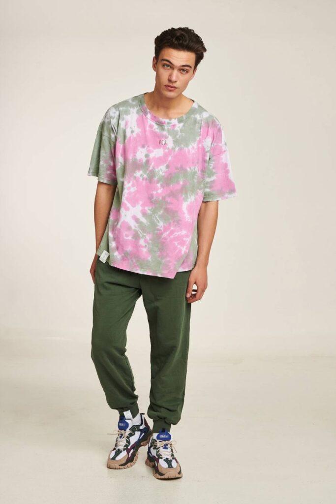 PCP Men's Tie-Dye T-shirt Militaire
