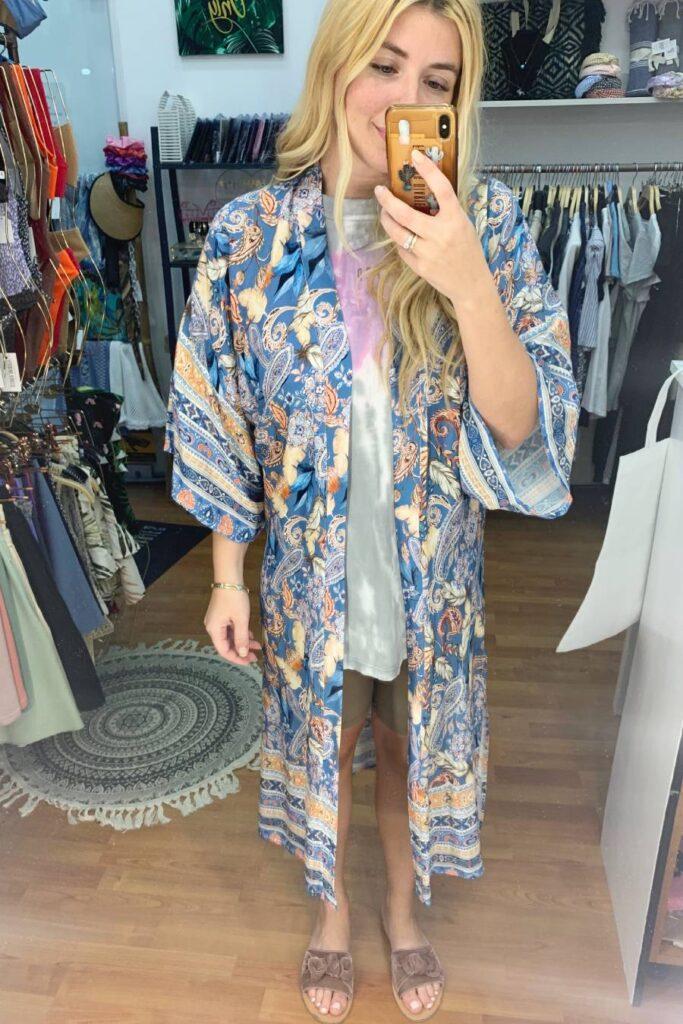 Boho kimono blue