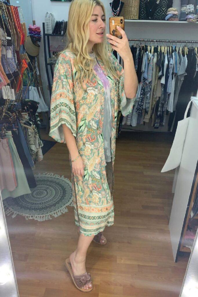 Boho Kimono Green