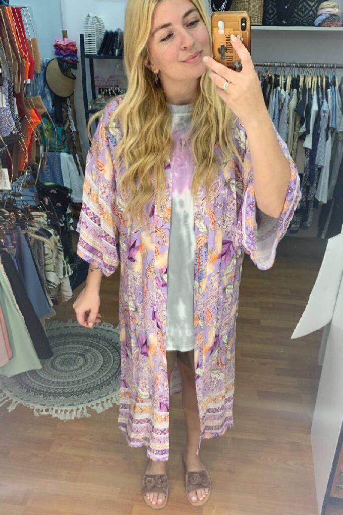 Boho Kimono Purple