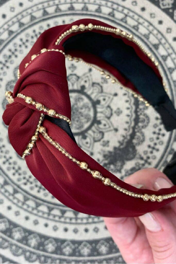 Bordeaux headband