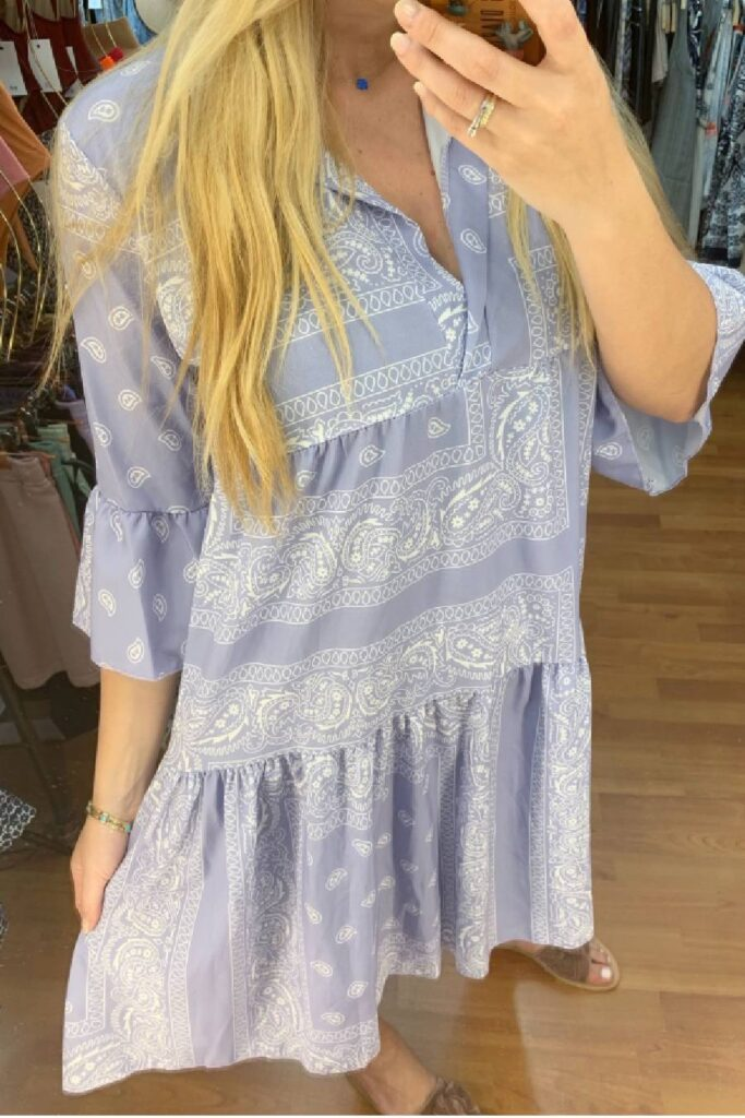 Bandana print dress – Lila