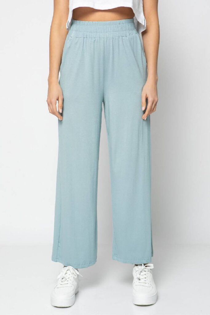Blue Elastic Trousers