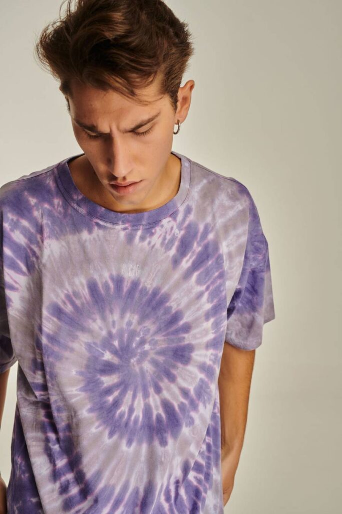 PCP Ανδρικό Μπλουζάκι Tie-Dye Μωβ