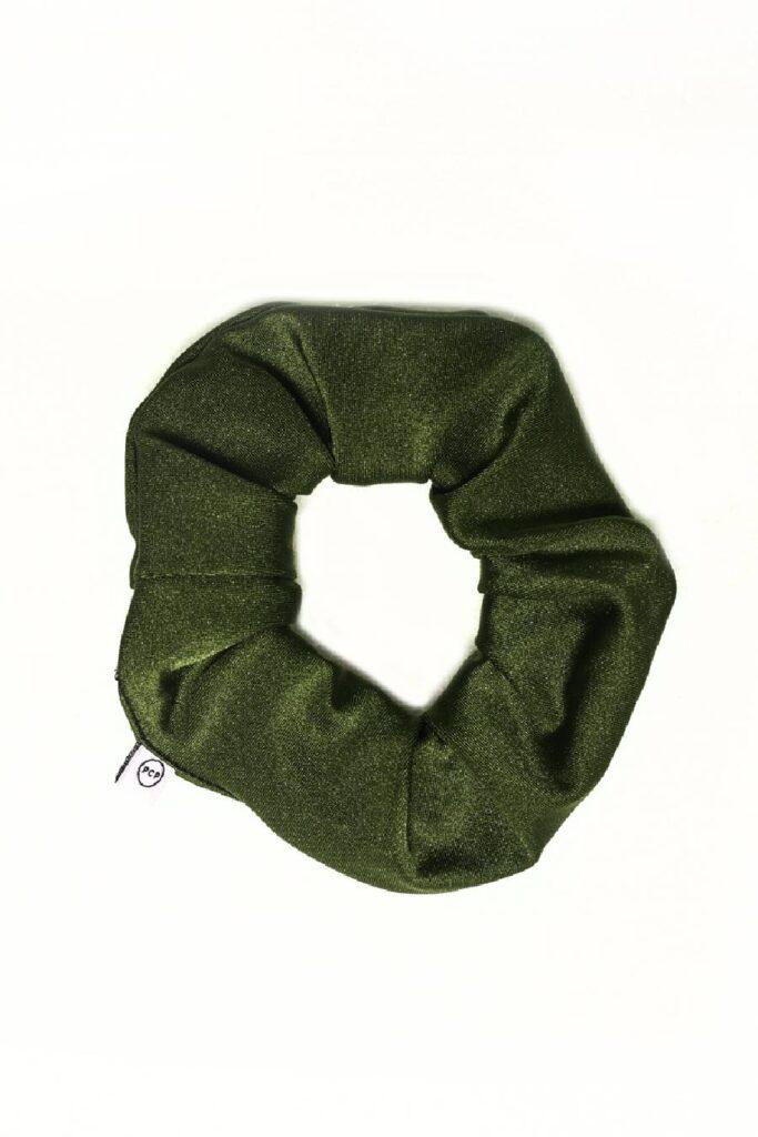 PCP Shiny Scrunchie Olive