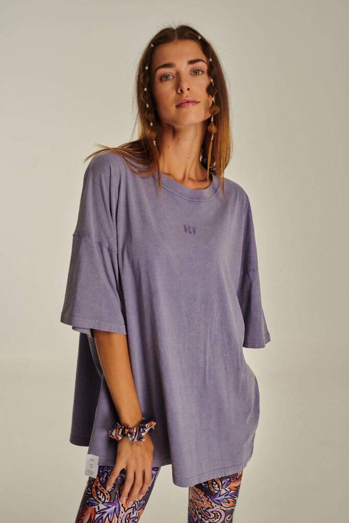 PCP Γυναικείο Μπλουζάκι Πετροπλυμένο Λιλά