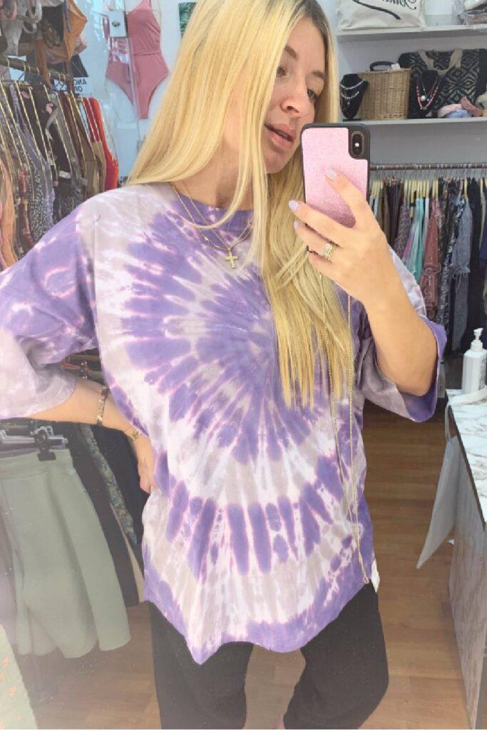 PCP Women's Tie-Dye T-Shirt Purple