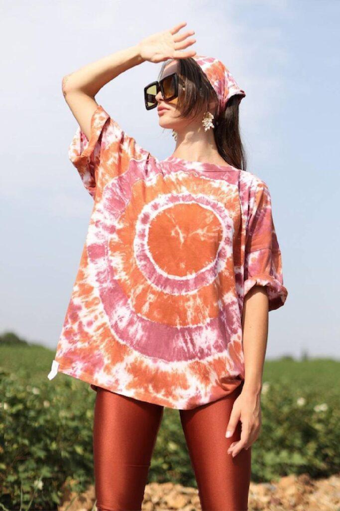 PCP Women's Tie-Dye T-Shirt Cinnamon