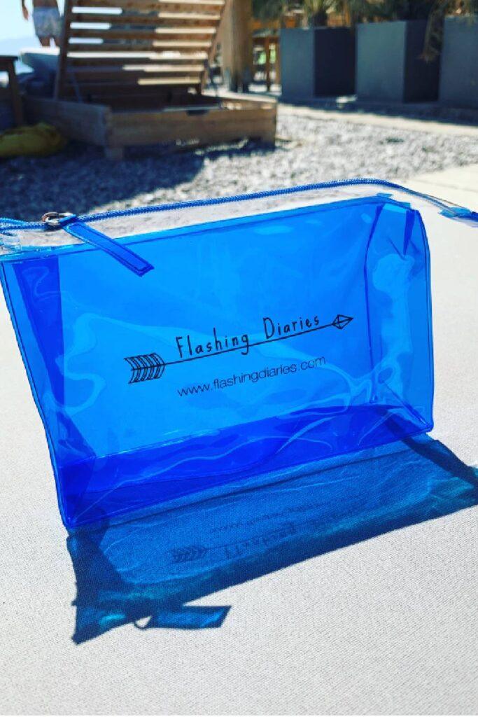 Blue Waterproof Clutch
