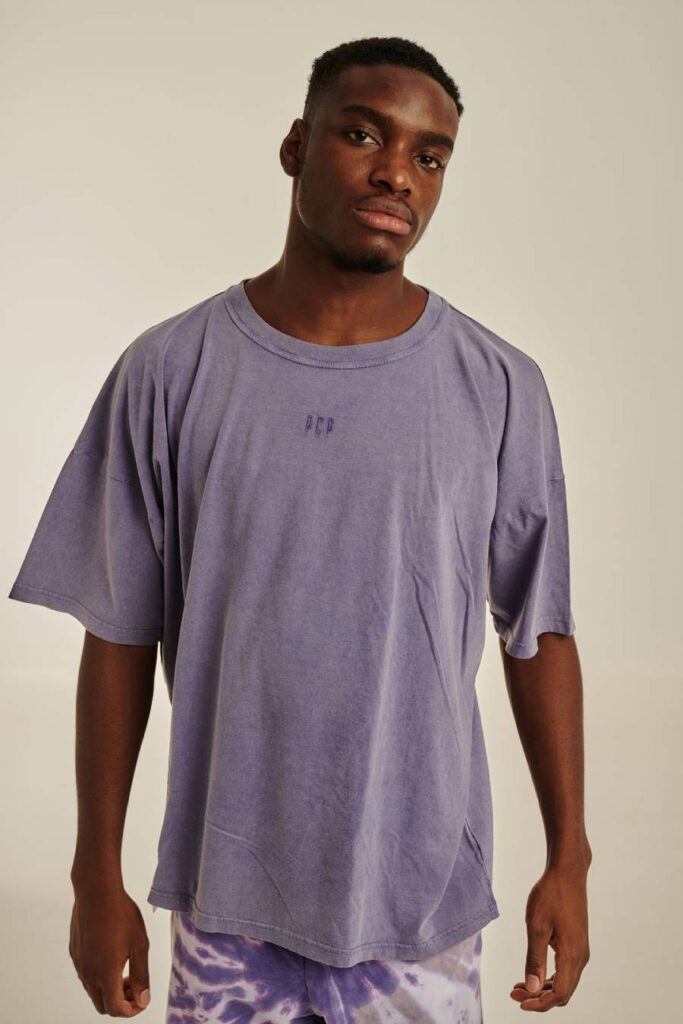 PCP Ανδρικό Μπλουζάκι Πετροπλυμένο Λεβάντα