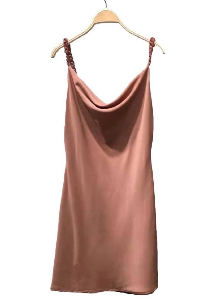 Ταμπά σατινέ φόρεμα