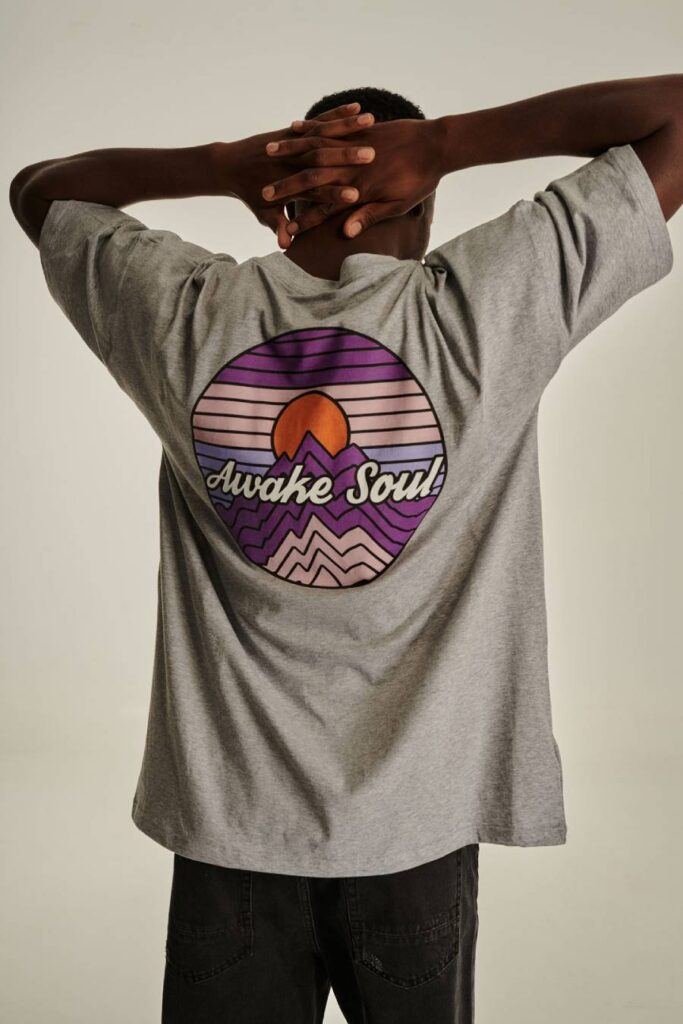 PCP Ανδρικό Μπλουζάκι Awake Soul Γκρι