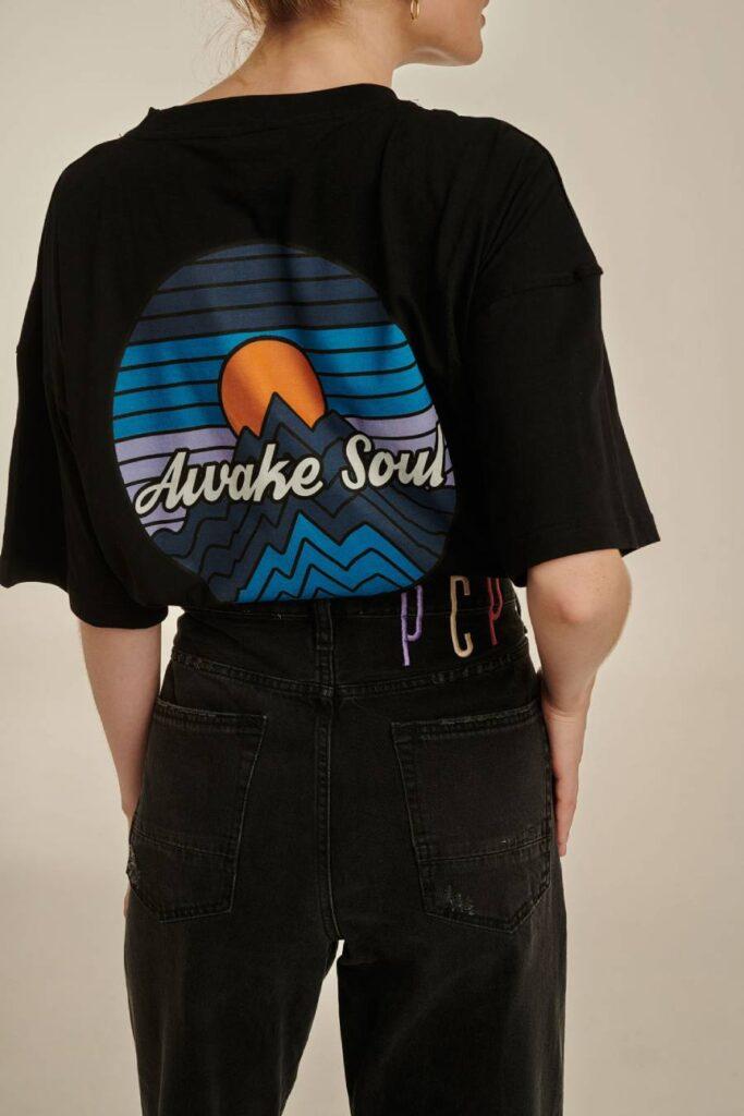 PCP Γυναικείο Μπλουζάκι Awake Soul Μαύρο